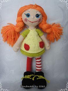 "Amigurumi crochet Doll ""Pippi Longstocking"""