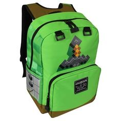 NEW Minecraft Kids Green Creepers Sword Backpack Book Bag Laptop Pocket Minecraft Backpack, Green Backpacks, Girl Backpacks, School Backpacks, Minecraft Sword, Minecraft Toys, Minecraft School, Minecraft Party, Men's Clothing