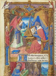 Book of Hours, MS H.5 fol. 10v - Images from Medieval and Renaissance Manuscripts - The Morgan Library & Museum