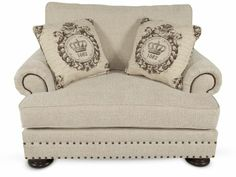 BHT-T5173 - Bernhardt Foster Fabric Chair and a Half | Mathis Brothers Furniture
