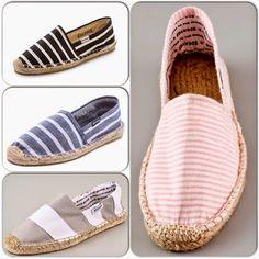 Le Petit Panier & Co: Guapa en alpargatas Cute Shoes, Me Too Shoes, Closed Toe Summer Shoes, Striped Espadrilles, Crochet Shoes, Kinds Of Shoes, Espadrille Shoes, Beautiful Shoes, Shoe Brands