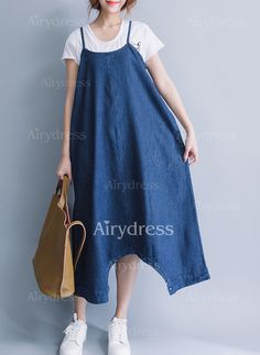 Dress - $27.31 - Cotton Solid Short Sleeve Mid-Calf Casual Dresses (1955128389)