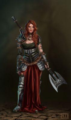 Warrior, Mariette Jacobs on ArtStation at https://www.artstation.com/artwork/warrior-572672bd-5360-4bec-b42d-fbf4539f6212