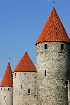 Towers of Tallinn, Estonia http://www.turistarth.com/la-valigia-del-viaggiatore/65-tallinn-history-to-share