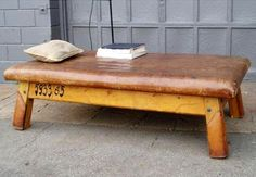 Vintage Gym Bench Outdoors | Remodelista