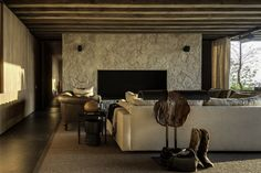 Gallery of El Mirador House / CC Arquitectos - 14 one of the most beautiful, restful living rooms I've ever seen.