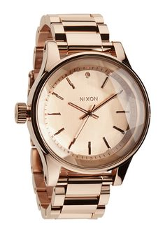 The Facet - All Rose Gold | Nixon.    It's left handed and beautiful!!!!!!!!!!!! I want it for Christmas!!!!!!