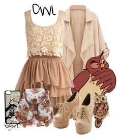 Owl - Spring - Disney's Winnie the Pooh by rubytyra on Polyvore featuring мода, But Another Innocent Tale, CellPowerCases, Spring, owl, disney, disneybound and winniethepooh