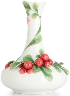 Franz Cowberry Porcelain Vase