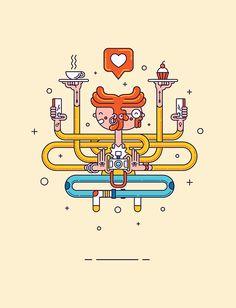 Holy Hashtag by Markus Magnusson, Kristianstad, Sweden on Behance | Graphic Design | Illustration | Comic | Geometric |