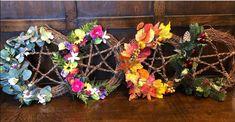 Pentacle, Floral Wreath, Wreaths, Home Decor, Floral Crown, Decoration Home, Door Wreaths, Room Decor, Deco Mesh Wreaths