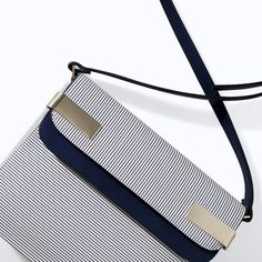 ZARA STRIPED MESSENGER BAG