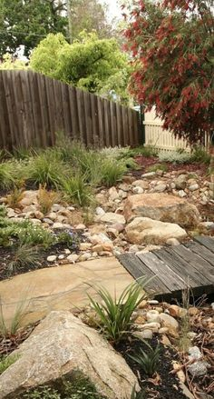 Browse landscape pictures, discover landscaping ideas and get tips from landscape design for creating your dream front yard landscaping or backyard landscaping ideas. Australian Garden Design, Australian Native Garden, Rain Garden Design, Coastal Gardens, Dry Creek, Dry River, Gras, Yard Landscaping, Garden Planning