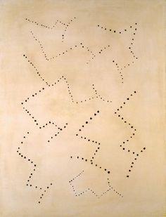Lucio Fontana Concetto spaziale 1950 Olio su tela, bianco 85 x 65 cm