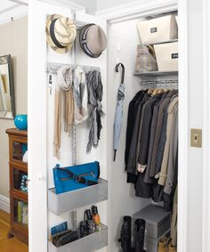 Unique Hall Closet Storage