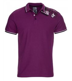 Twisted Soul Quest Polo Shirt in Purple