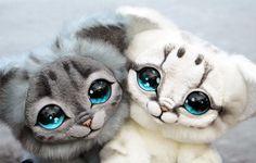 Moonlight Kittens by GakmanCreatures on Etsy