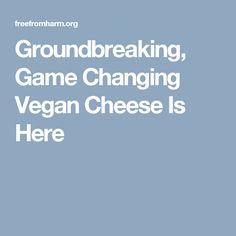 Groundbreaking, Game Changing Vegan Cheese Is Here