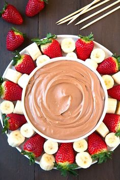 Make this party-favorite Chocolate Fruit Dip for your next night in.