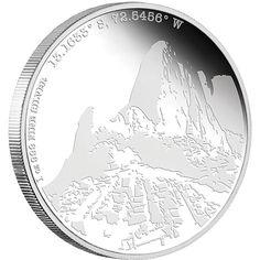 Forgotten Cities coin series first release; Machu Picchu 1 oz Silver coin from NZ Mint http://www.nzmint.com/coins/coin-collections/forgotten-cities-coins.htm