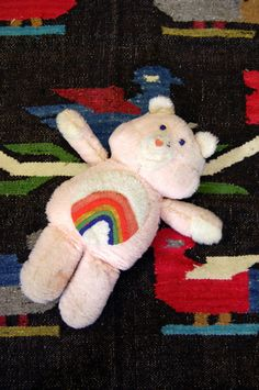 A handmade Care Bear, my mom hand made all our Care Bears too!