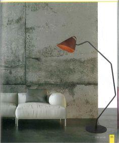 Φωτιστικό δαπέδου με δέρμα. Κάνει τη διαφορά και την υποστηρίζει. Νέες παραλαβές www.kourtakis-lighting.gr Indoor, Crystals, Space, Lighting, Metal, Wood, Home Decor, Interior, Floor Space