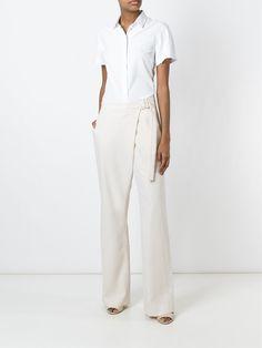 Stella McCartney широкие брюки с запахом