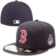 1808e4afcd1 New Era Boston Red Sox 2013 MLB World Series Bound Patch Game On-Field  59FIFTY Youth Fitted Hat - Navy Blue