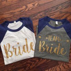 TEAM Bride bridal party unisex 3/4 sleeve baseball tee by afore21