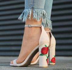 You can buy these heels on website: http://www.lolashoetique.com/new-arrivals #heels #flower #elegant