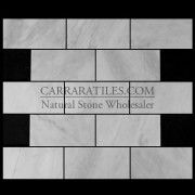 3x6 carera marble subway tile
