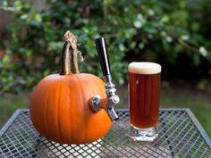 The best way to serve homebrewed pumpkin ale! Homebrew Pumpkin Ale by seriouseats. Photo by Sarah Postma Pumpkin Beer, Best Pumpkin, Homebrew Recipes, Beer Recipes, Drink Recipes, How To Make Pumpkin, How To Make Beer, Brew Your Own Beer, Chocolate Malt