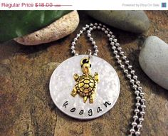 Hey, I found this really awesome Etsy listing at https://www.etsy.com/listing/186504443/on-sale-now-personalized-jewelry-turtle