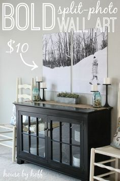 follow the link for more wall art ideas - maybe for that wall in your dining area?