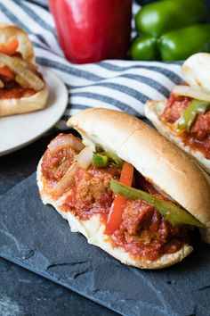 Meatball Subs are so much better with this simple hack and everyone will thank you for less mess. via @thecookful