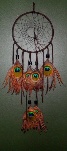 Peacock Dream Catcher by sweetdreams21 on Etsy, $50.00