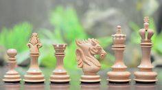 The Dragon Knight Series Chess Pieces Carved by chessbazaarIndia