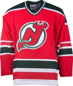 864e24b591e New Jersey Devils CCM Vintage 1982 Red Replica NHL Hockey Jersey CoolHockey