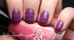 China Glaze Fancy Pants + W111 stamping nail art