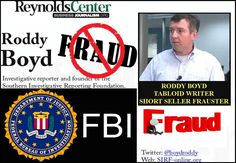 Southern Investigative Reporting Foundation, SIRF, sham outfit owned by notorious stock short seller RODDY BOYD. FBI watch, Roddy Boyd, SIRF fraud exposed.
