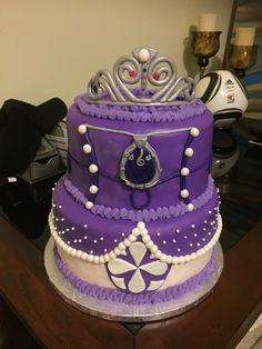 Sofia the first amulet dress cake