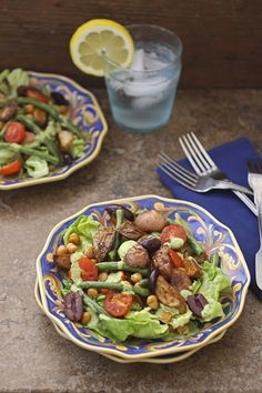 Vegan Roasted Niçoise Salad with Cashew Goddess Dressing from The Nut Butter Cookbook by Robin Robertson (gluten-free)