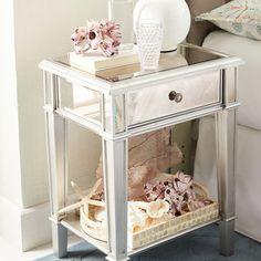 Hayworth Mirrored Silver Nightstand