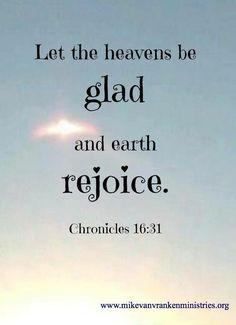 Rejoice right now.
