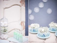 Blanc Mariclò: un baby shower latte e menta Easy Home Decor, Tutorial, Video, Latte, Baby Shower, Mirror, Simple, Projects, Diy