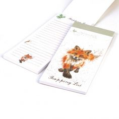 Wrendale Designs Fox Magnetic Shopping List in the foxtrot design ideal to connect to your fridge ready to add those next needed essential items. http://www.a-choice-of-gifts.co.uk/giftshop/prod_3722003-Wrendale-Designs-Fox-Magnetic-Shopping-Pad.html