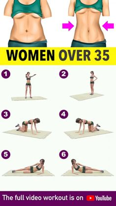 Today's video is a daily workout routine for ladies above the age of 35 who need to spend more time on their health--eating healthy and of course, exercising regularly. We reach a certain age when working out becomes a necessity due to the fact that our Fitness Workouts, Workout Hiit, 10 Minute Ab Workout, Full Body Gym Workout, Yoga Fitness, Workout Plans, Fitness Motivation, Fitness Quotes, Armpit Workout