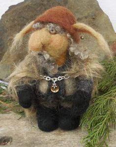 Needle Felted Troll Mountain Troll Ragne by InAnotherLifeVintage