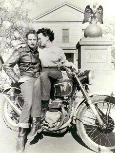 Marlon Brando + motorbike
