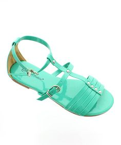 Love this Turquoise Gladiator Sandal by Pierre Dumas on #zulily! #zulilyfinds